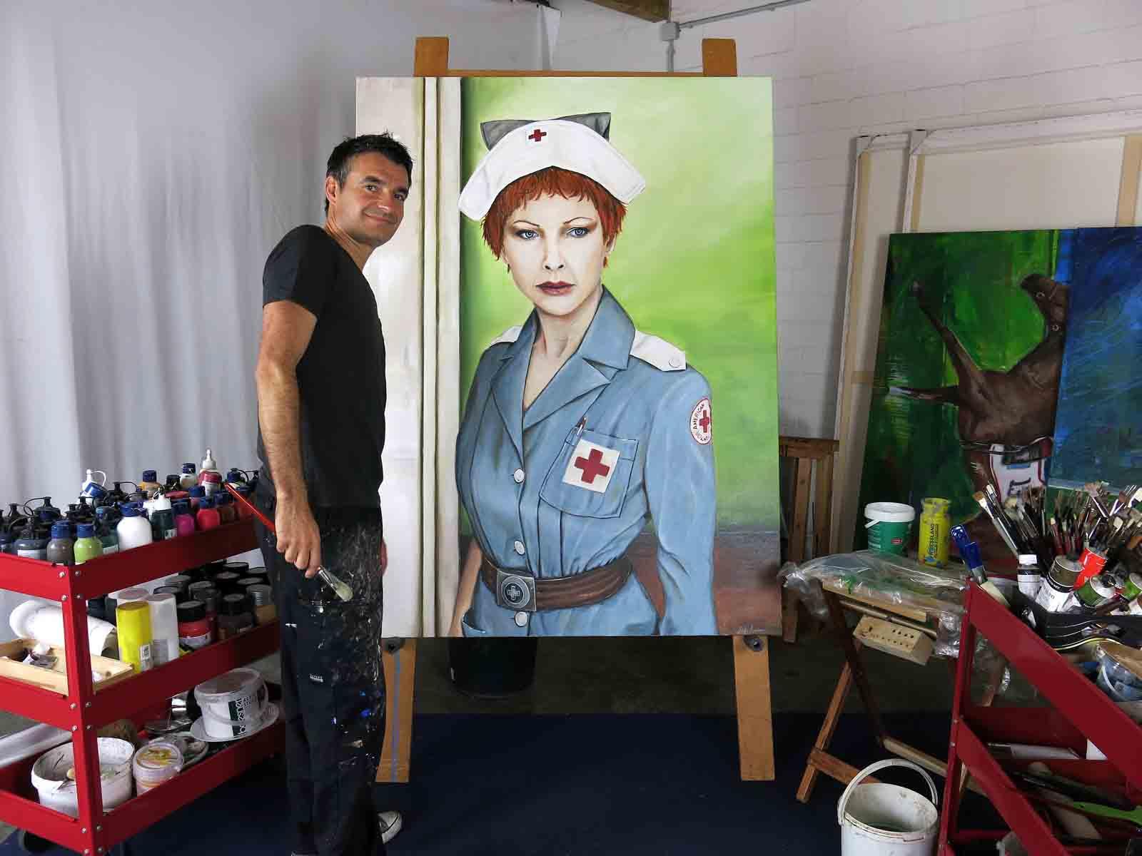 """American Voluntary"" 160 x 120 cm Öl auf Leinwand - 2014"