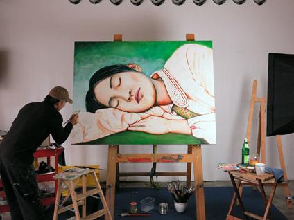 Zwei Tag noch, dann ich Elli fertig. 160 x 120 cm Öl auf Leinwand