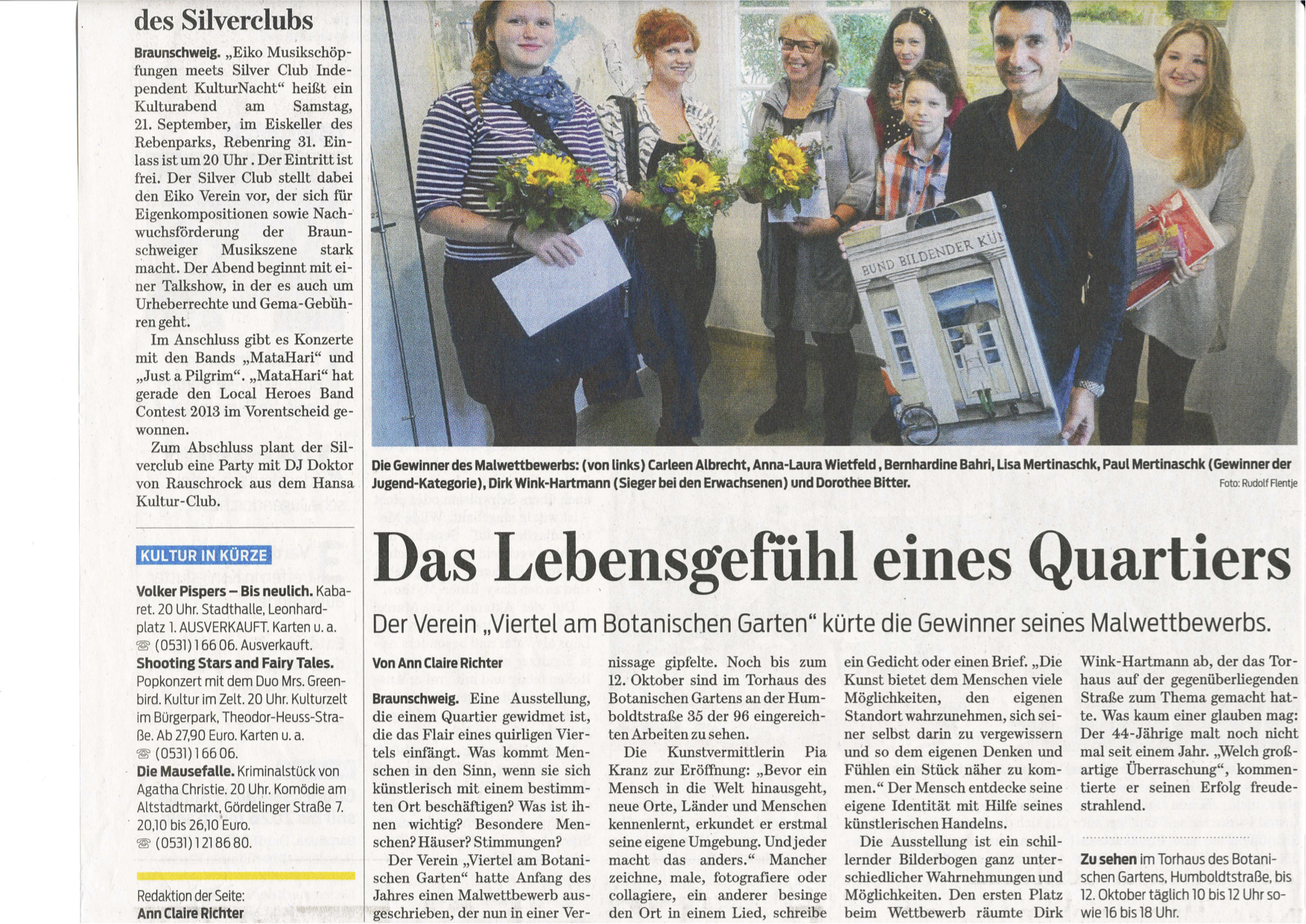 Braunschweiger Zeitung vom 18.09.2013