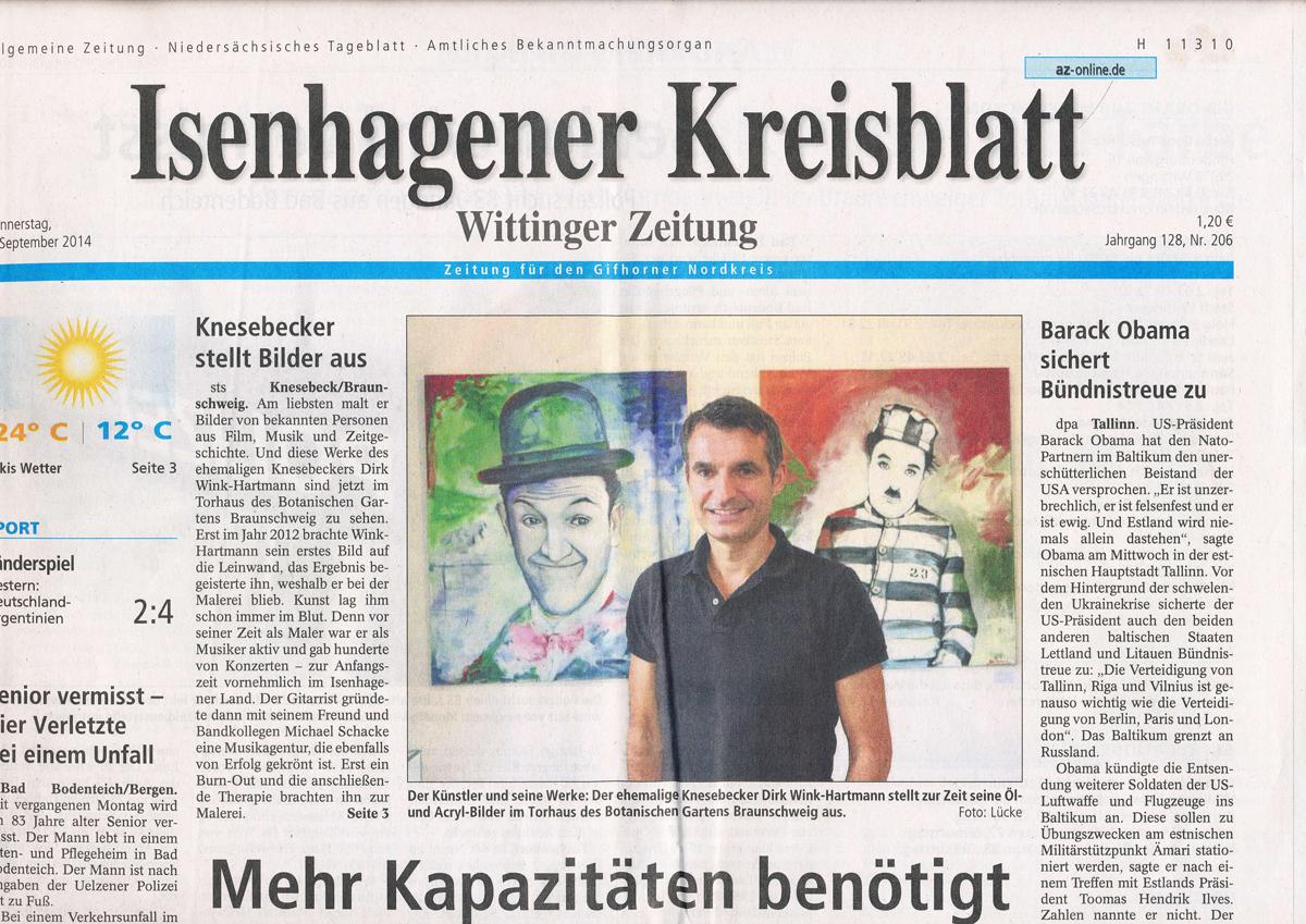 Isehhagener Kreisblatt Titelseite 04.09.2014