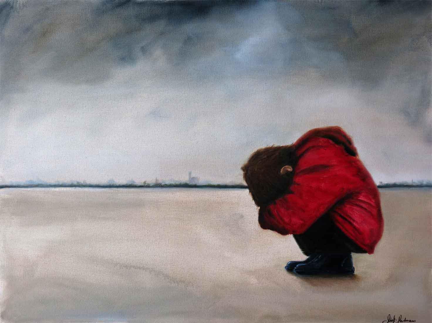 """""""ohne Titel"""" 80 x 60 cm Öl auf Leinwand - 2014"""