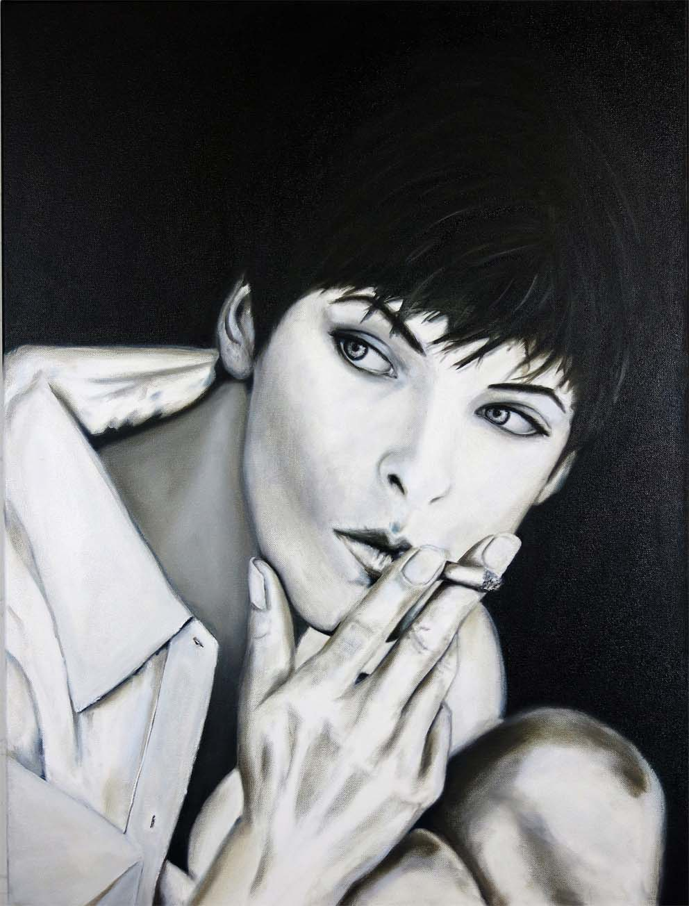Linda - 80 x 60 cm Öl auf Leinwand - 2014k