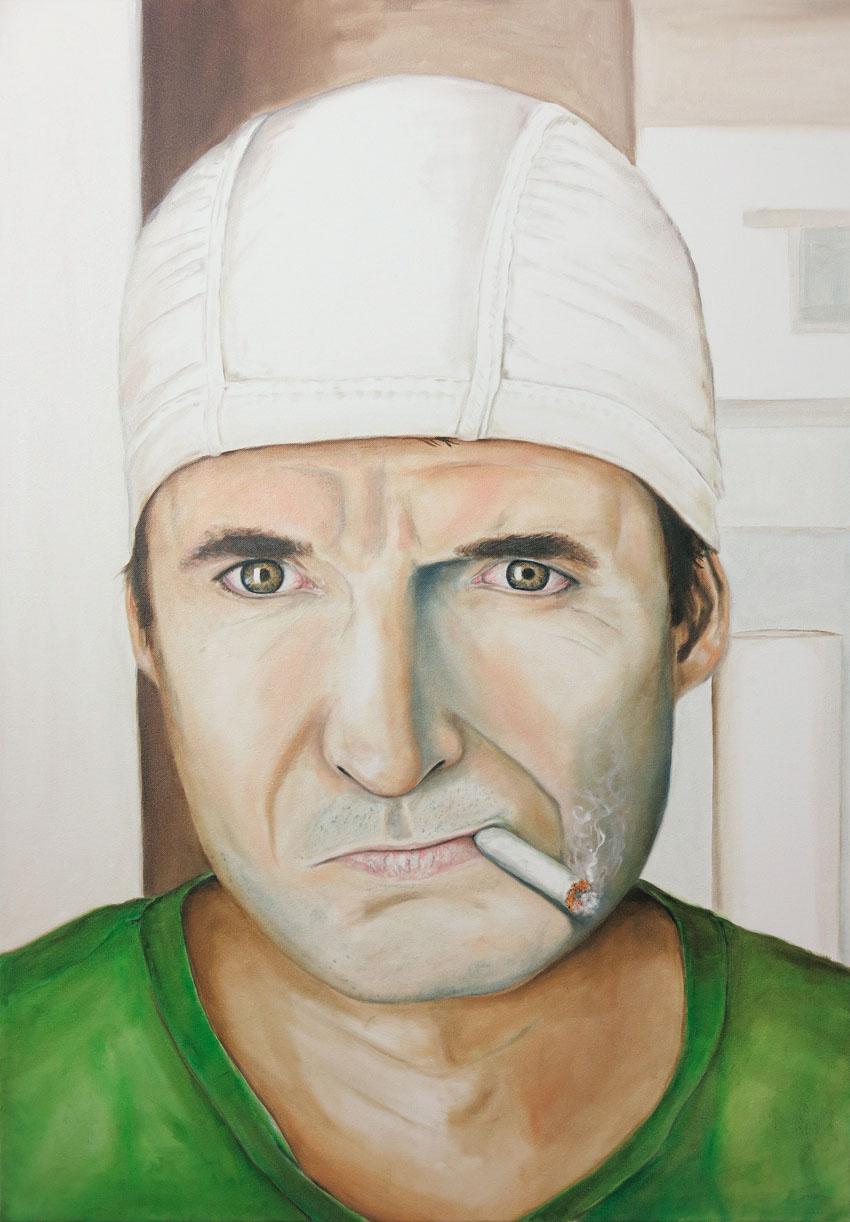 """""""Selbstportrait""""  100 x 70 cm Öl auf Leinwand 2014"""