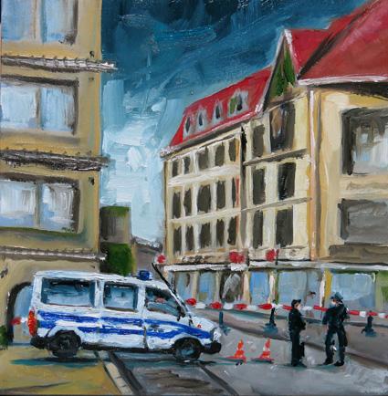 Kein guter Tag - 15 x 15 cm Öl auf MDF 2015 Dirk Wink-Hartmann