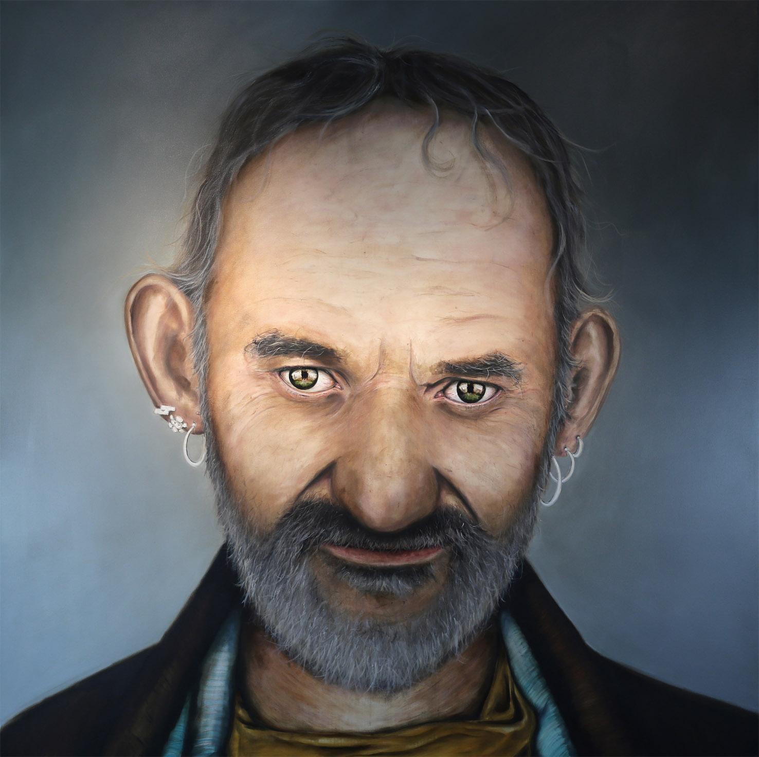 Matthias vom Ringerbrunnen - 150 x 150 cm Öl auf Leinwand 2015 Dirk Wink-Hartmann